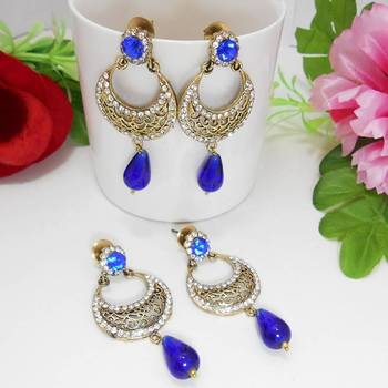 Victorian Danglers Combo Royal Blues