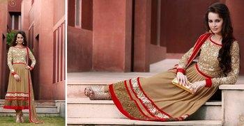 Crepe Salwar & Georgette Kameez Paki-7254