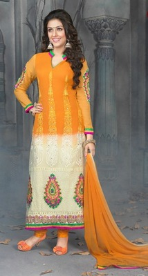 Party Wear Designer Straight Suit