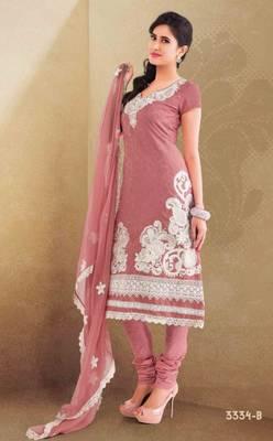 Santoon Salwar & Crepe Silk Kameez Bela-3334-B