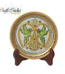eCraftIndia Parrot Decorative Marble Plate