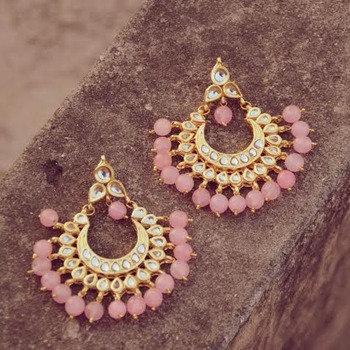 Pink Chand Bali