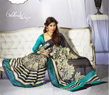 Bollywood Designer Saree With Blouse