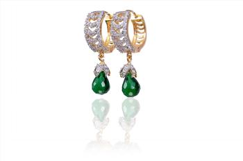 Exotic Green American Diamond Earrings