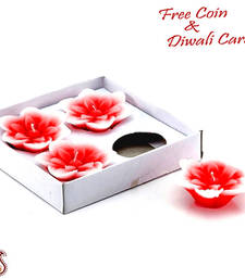Buy Floating aroma wax candles in set of 04 candle online