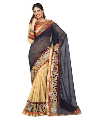 Triveni Staggering Party Wear Border Worked Indian Traditional  Georgette Saree