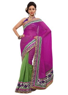 Triveni Indian Ethnic Impressive Broad Bordered Jute Silk Saree