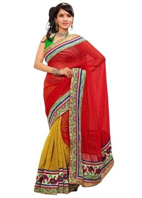 Triveni Indian Ethnic Elite Border Worked Jute Silk Chiffon Saree