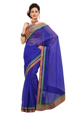 Triveni Indian Ethnic Fashionable Border Worked Jute Silk Saree