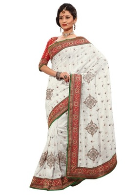 Triveni Indian Ethnic Impressive Embroidered Bhagalpuri Silk Saree