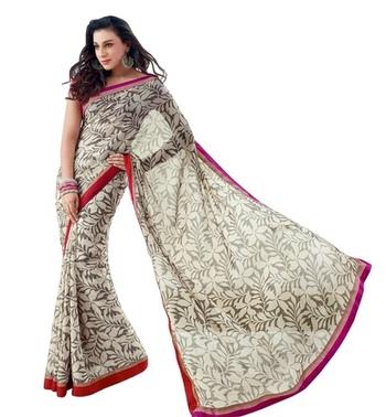 Triveni Latest Indian Designer Stylish Foliage Patterned Casual Wear Saree