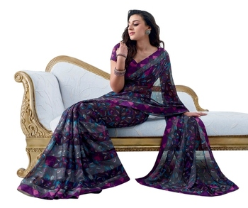 Triveni Latest Indian Designer Nature Inspired Fancy Multi Colored Saree