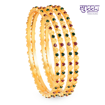 Sukkhi Gold Plated Color  bangels