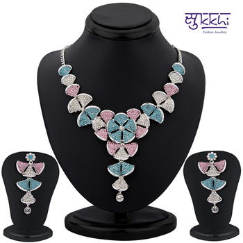 Sukkhi color stone neacklace set