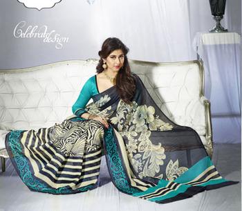 Printed Bhagalpuri Khadi Silk Saree Vip-10014