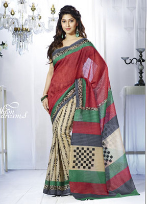 Printed Bhagalpuri Khadi Silk Saree Vip-10032