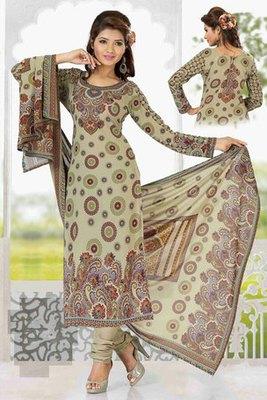 A Light Green Georgette Printed Salwar Kameez