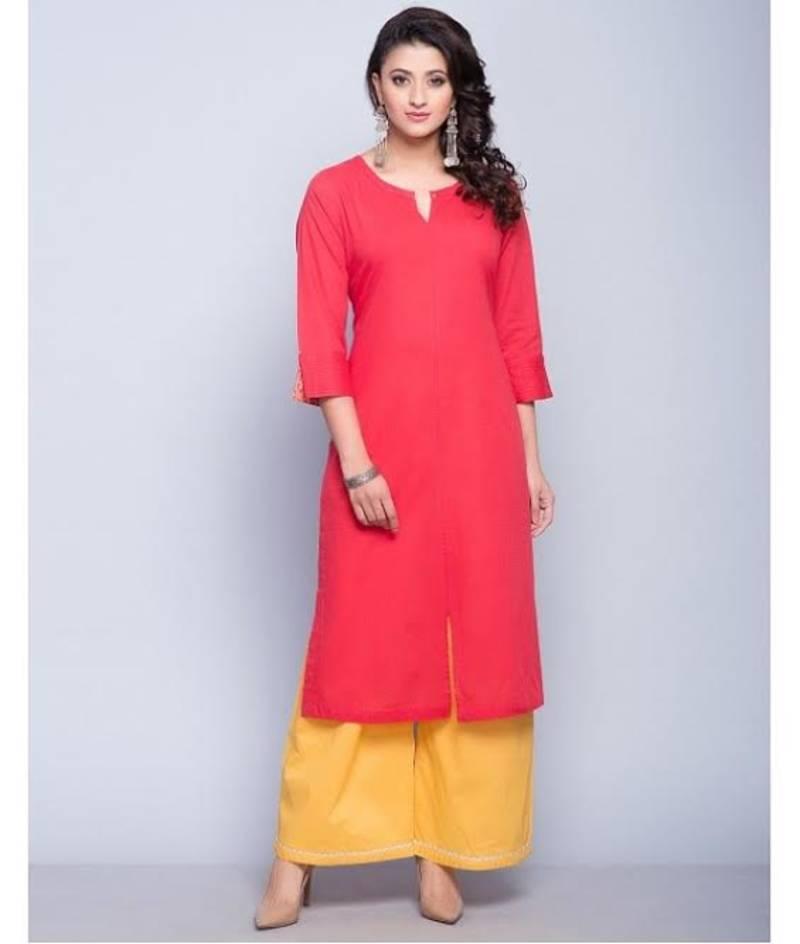 Buy Pashimo Womens Pink Color Cottan Salwar Suit Online