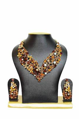 Lovers Zircon Jewelry Set in Gold Shades