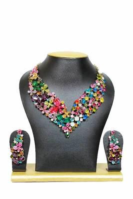 Lovers Zircon Jewelry Set in Multicolors