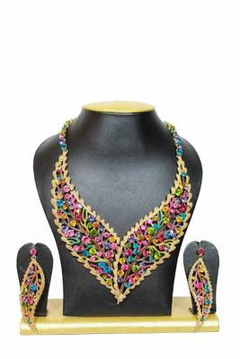 Striking Zircon Jewelry Set in Multicolor Shades