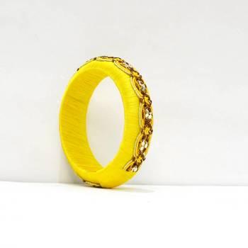 Yellow wooden Bangle