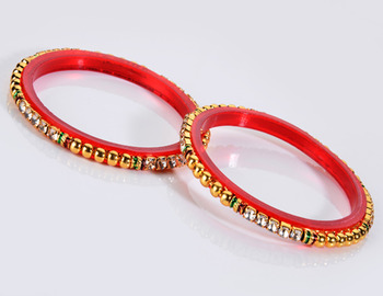 Traditional Diamond and Bor Bangle