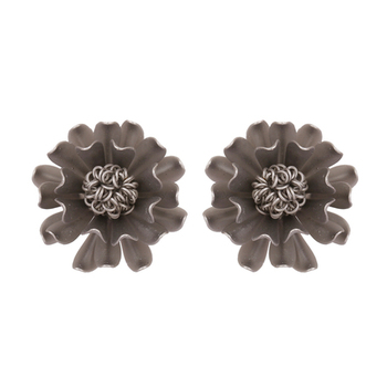 Imported Rich Black Flower Studded Beautiful Trendy Fashion Stud For Womens