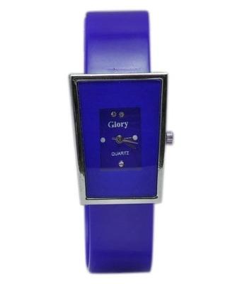 New Fashion Casual Blue color stylist Rubber strap Women's wear Quartz Wristwatch