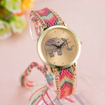 New Fashion multi color stylist Latest 2016 women's wear Wristwatch