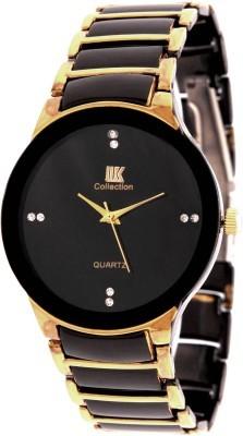 New Fashion Golden and black colour stylist Latest 2016  Wristwatch