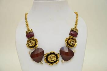 Quirky Resin and Metallic Necklace