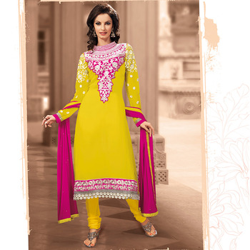 Yellow color Georgette Suit
