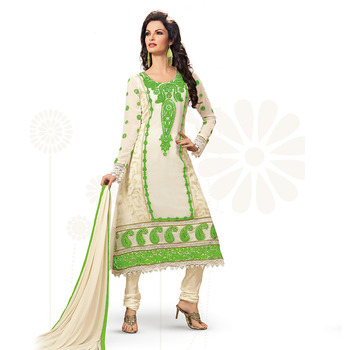 OffWhite color Georgette Suit