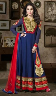 Shraddha Kapoor Floor Touch Anarkali Suit