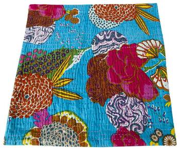 Kantha Cushion cover with flower work