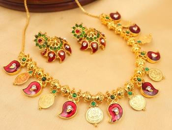Gorgeous Handmade Mango Necklace Set
