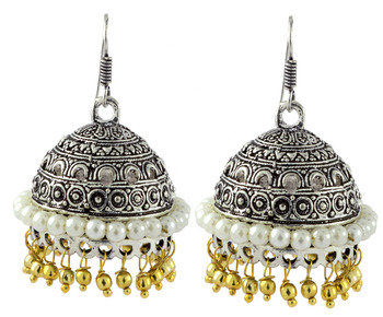 Antique Oxidized German Silver Gold Plated Jhumki Earring For Women