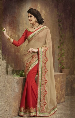 Newly wed bride saree
