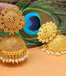 Buy Beautiful Gold Plated Designer Jhumkas south-indian-jewellery online
