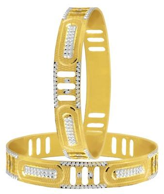 Wedding Filigree Gold Plated Rhodium Metal Chuda Kada Bangle Set