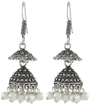 d3ca422bc Antique Oxidized German Silver Pearl Double Jhumki Earring For Women - the  jewelbox - 1471360