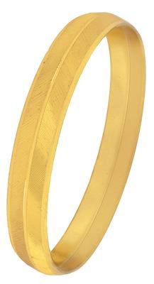 Traditional Gold Plated Metal Kada Bangle For Mens