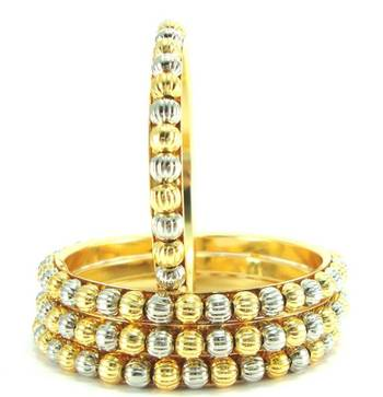 bridal wear two tone 4pc bangle me5049
