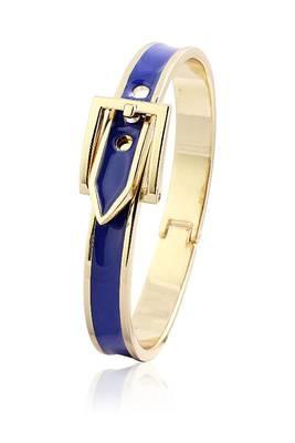 Just Women Buckle Clasp Black Blue Bracelet