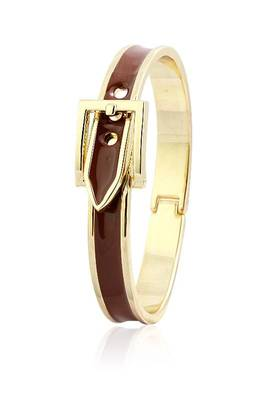 Just Women Buckle Clasp Brown Band  Bracelet