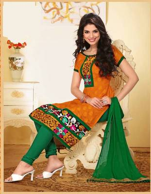 Tantalizing Yellow and Green Salwar Kameez