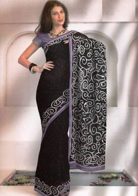 Saree Cambric Cotton Designer Prints With Blouse Piece D.No D1033