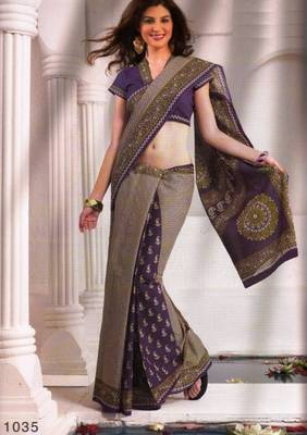 Saree Cambric Cotton Designer Prints With Blouse Piece D.No D1035