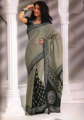 Saree Cambric Cotton Designer Prints With Blouse Piece D.No D1036
